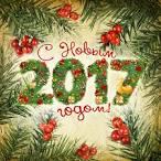 Новогоднее поздравление в открытке 2017