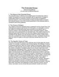 extended essay format