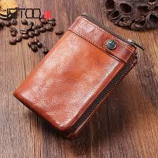 <b>AETOO Handmade</b> leather men's wallet <b>vintage old</b> vertical buckle ...