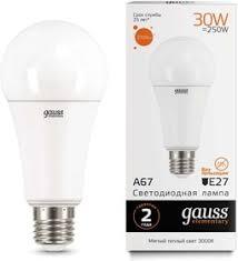 <b>Лампа</b> светодиодная Elementary A67 30Вт E27 3000К <b>Gauss 73219</b>