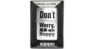 <b>Зажигалка</b> Zippo 200 <b>Dont</b> Worry <b>Be</b> Happy <b>Бензиновая</b> купить в ...