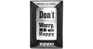 <b>Зажигалка Zippo 200</b> Dont Worry Be Happy Бензиновая купить в ...
