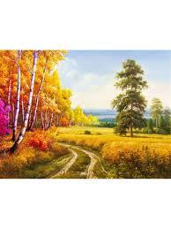 <b>Картина</b> по номерам <b>Русская</b> осень, 50х40 см, на <b>раме</b>, 24 цвета ...