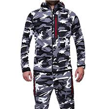 <b>2019</b> New Plus Size Men <b>Running Set</b> Camo Print Patchwork Sport ...