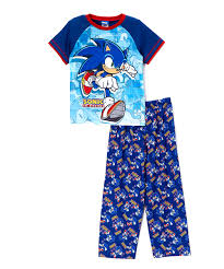 blue sonic the hedgehog pajama set boys zulily women