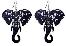 Pashal Large Natural <b>Wooden</b> Majestic <b>African Bohemian</b> Elephant ...