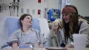 "Johnny Depp as ""<b>Captain Jack Sparrow</b>"" sails into Vancouver to visit ..."