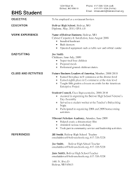 resume for high school students examples   Template   how to write a resume high school