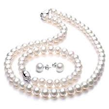 Freshwater Cultured Pearl Necklace Set Includes ... - Amazon.com