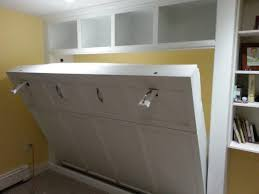 custom built in pull down queen size murphy bed for a basement office unit bed for office