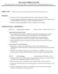 Combination Resume Sample: Administrative, Customer Service Combination Resume Sample Administrative Client Relations