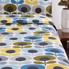 living room orla kiely multi: orla kiely s flower bedding marine at dotmaison