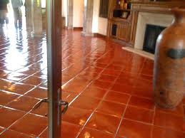 Terra Cotta Tile In Kitchen Custom Stained Terra Cotta Pavers California Tile Restoration