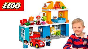 Даник и Мама играют в Лего <b>набор</b> - Семейный Дом ...