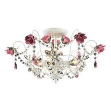white chandelier girls room