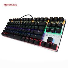 <b>METOO Zero Mechanical keyboard</b> 87/104 keys Black Blue Red ...