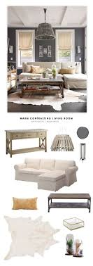 copy cat chic room redo warm contrasting living room casual living room lots
