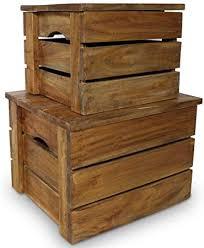 vidaXL Solid Wood <b>Storage Crate Set 2</b> Pieces Reclaimed Box ...