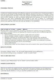 cashier cv example and template   lettercv comcashier cv