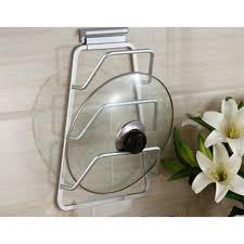 lid storage racks pot pan new design kitchen space saver cabinet door pot and pan lid holder rac