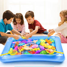 <b>40pcs</b>/<b>lot Magnetic Fishing</b> Toy with Inflatable Pool for <b>Kids</b> Party ...