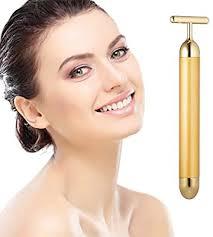 <b>Beauty Bar 24k Golden</b> Pulse Facial Massager, T-Shape Electric ...