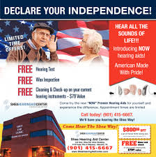 shea hearing aid center declare your independence services shea hearing aid center health and wellness ads from commercial appeal
