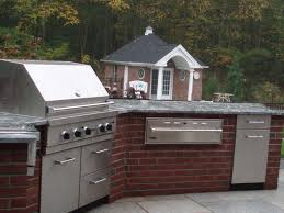 set cabinet full mini summer: brick feat and cabinet classic house with outdoor summer kitchen idea feat brick cabinet and modern metal grills