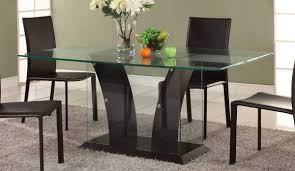good design of modern kitchen tables with tempered glass top also black legs black white modern kitchen tables