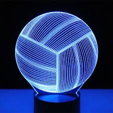<b>3D LED</b> Night Light <b>Volleyball</b> with 7 Colors Light for Home ...