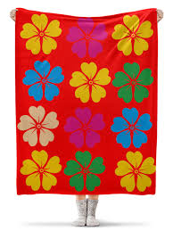 <b>Плед флисовый 130</b>×<b>170</b> см лилии Lilies #2161623 – купить <b>плед</b> ...