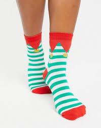 Faoswalim DESIGN Christmas elf ankle socks | Faoswalim