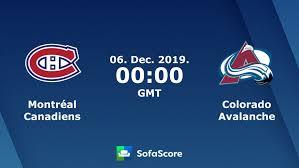 Montréal Canadiens Colorado Avalanche live score, video stream ...