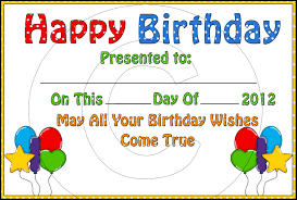 birthday gift certificate clipart clipart kid birthday certificate birthday certificate boy african 0 99