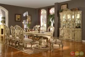 Traditional Dining Room Set Antique White Traditional Formal Dining Room Furniture Set Log