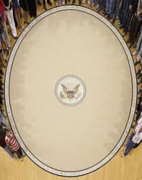 president obamas oval office rugdigitally reconstructed source barack obama enters oval