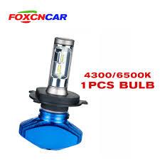 FOXCNCAR <b>1pcs</b> H7 <b>H4 LED H4</b> H7 <b>6500K</b> Car <b>headlight</b> bulb ...