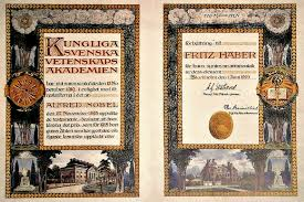 hayek and the nobel prize mises nobel prize diploma fritz haber 1918