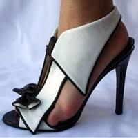 <b>Women</b> Fashion <b>Sexy</b> Black and <b>White</b> Bowtie Dress Sandals ...