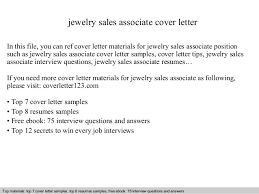 sales clerk cover letter  seangarrette cojewelry sales associate cover letter