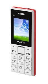 Мобильный <b>телефон MAXVI C9</b> White-red — купить в интернет ...
