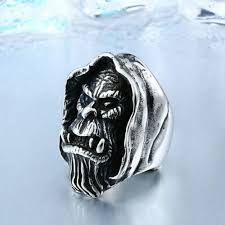 Jewellery & Watches Ring For Men <b>Skull</b> Animal <b>Hardcore Punk</b> ...