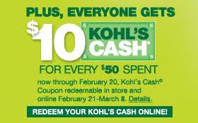 30 percent off kohl's