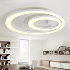 white acrylic led ceiling light fixture flush mount lamp restaurant dining room foyer kitchen bedroom hotel lighting fitment cheap bedroom lighting