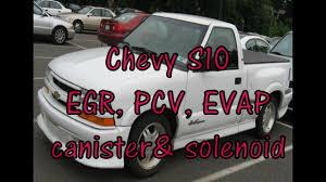 Chevy S10 <b>emissions</b>: PCV valve, <b>EGR</b> valve, EVAP canister ...