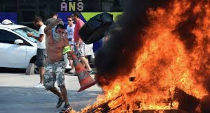 Image result for uber paris protest