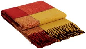"""<b>Плед Vladi</b> """"<b>Эльф</b>"""", цвет: желтый, красный, бордовый, 170 х 210 см"""