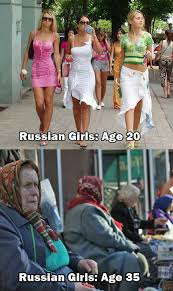 Russia Girls: Age 20 Vs Age 35 | WeKnowMemes via Relatably.com