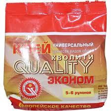 <b>Клей</b> обойный <b>Quality</b> эконом 0.15кг - купить в Тихвине. ТД «Вимос»
