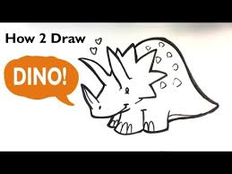 How to Draw a <b>Dinosaur</b>(<b>Cute</b>) -<b>Triceratops</b> - Easy Pictures to Draw ...